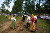местные люди праздновали день ивана купала — Стоковое фото