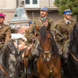 Stockfoto: Unidentified participants feast of Polish cavalry