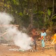 Unidentified children Orang Asli in his village — Lizenzfreies Foto