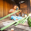 Unidentified woman Orang Asli in his village — Stockfoto