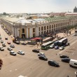 Top view of Metro and mall Gostiny Dvor — Stockfoto #32361393