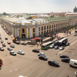 top view of the metro and mall gostiny dvor — Stock Photo