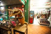 Shop leather Siamese crocodile — Stock Photo