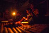 Unidentified people Orang Asli — Stock Photo