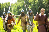 Historical festival of medieval culture Ladogafest — Stock Photo