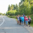 Photo: Unidentified participants during of local competitions in Nordic walking devoted to Day of Health