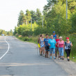 Unidentified participants during of local competitions in Nordic walking devoted to Day of Health — Stockfoto #32446663