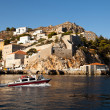 View of Hydra town in Sep 25, 2012 in Hydra, Greece — Foto Stock