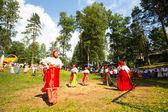 La población local celebró el día de ivan kupala — Foto de Stock