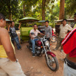 Unidentified cambodian moto-rickshaws in Angkor Wat on Siem Reap, Cambodia. — Stock Photo