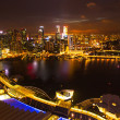 A view of city from roof Marina Bay Hotel  on Singapore. — Стоковая фотография