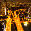 图库照片: View of city from roof MarinBay Hotel on Singapore.