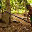 Постер, плакат: Unidentified child Orang Asli in his village in Berdut Malaysia