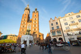 View of the Main Square, in Krakow, Poland — Stock Photo