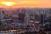 Widok miasta z dachu marina bay hotel singapore. — Zdjęcie stockowe