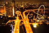 Une vue de la ville de toit marina bay hôtel sur singapour. — Photo