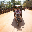 Unidentified cambodimoto-rickshaw in Angkor Wat, on Siem Reap, Cambodia. — Stock Photo #32768283