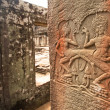 Apsaras - khmer stone carving in Angkor Wat,  on Siem Reap, Cambodia. — Foto Stock