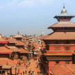 Top view of the Durbar Square (Basantapur), in Kathmandu, Nepal. — Stock fotografie