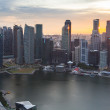 A view of city from roof Marina Bay Hotel on Singapore — Stockfoto