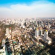 A view on the city from Bayok Sky hotel  in Bangkok, Thailand. — Foto de Stock