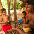 Unidentified child Orang Asli in his village in Berdut, Malaysia — Stock Photo