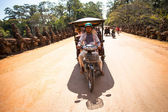 Unidentified cambodian moto-rickshaw in Angkor Wat, on Siem Reap, Cambodia. — Stock Photo