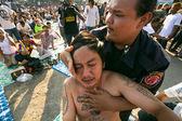 在泰国那空柴不明参与者主天仪式能孔 khuen. — 图库照片
