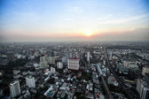 A view on the city from Bayok Sky hotel — Stock Photo