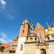 Territory of Royal palace in Wawel in Krakow, Poland. — Foto Stock