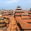 Top view of the Durbar Square (Basantapur) — Stock Photo