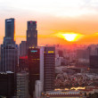 A view of city from roof Marina Bay Hotel — Foto Stock