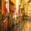 Polish cavalry in the National Museum — Stock Photo