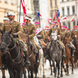 Polish cavalry in Krakow — Stock Photo