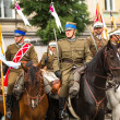 Polish cavalry in Krakow — Stockfoto