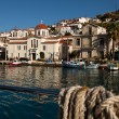 View of Hydra town — Stock Photo