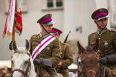 Polish cavalry in Krakow — Stock fotografie