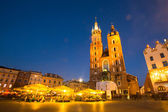Historical center of Krakow — Stock Photo