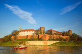 Royal Wawel castle with park — Stok fotoğraf