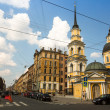 Stock Photo: ST.PETERSBURG, RUSSI- JUN 26: One of streets in historical center, Jun 26, 2013, SPb, Russia. Petersburg ranked 10th place among most visited and popular tourist cities in Europe
