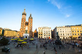 Historical center of Krakow , Poland. — Stock Photo