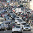 Cars stands in traffic jam — Stock Photo #34282205