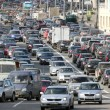 Постер, плакат: Cars stands in traffic jam