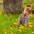 little five-year girl in park — Stock Photo