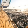 Yacht, sailing regatta. — Stock Photo