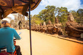 Cambodian moto-rickshaws — Stock Photo