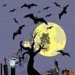 Halloween vector background — Stockvektor
