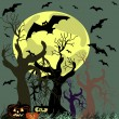 Stock Vector: Vector Halloween background.