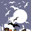 Halloween vector background. — Stock Vector