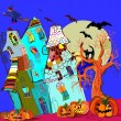 Happy Halloween  background.  — Imagen vectorial